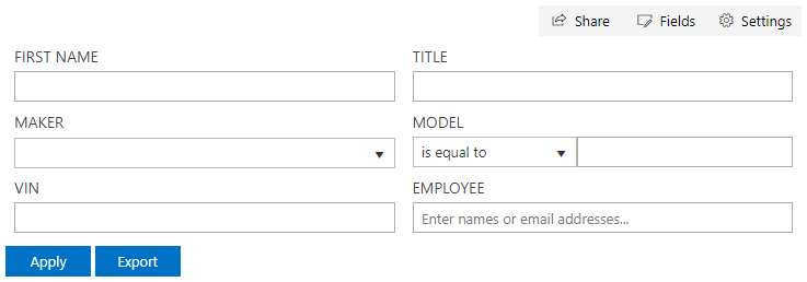 SharePoint Filter Web Part. Custom Label Style