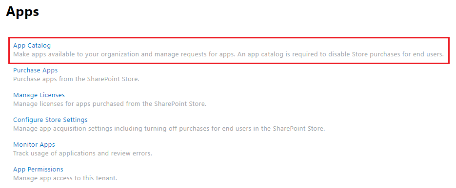 SharePoint Apps Administration