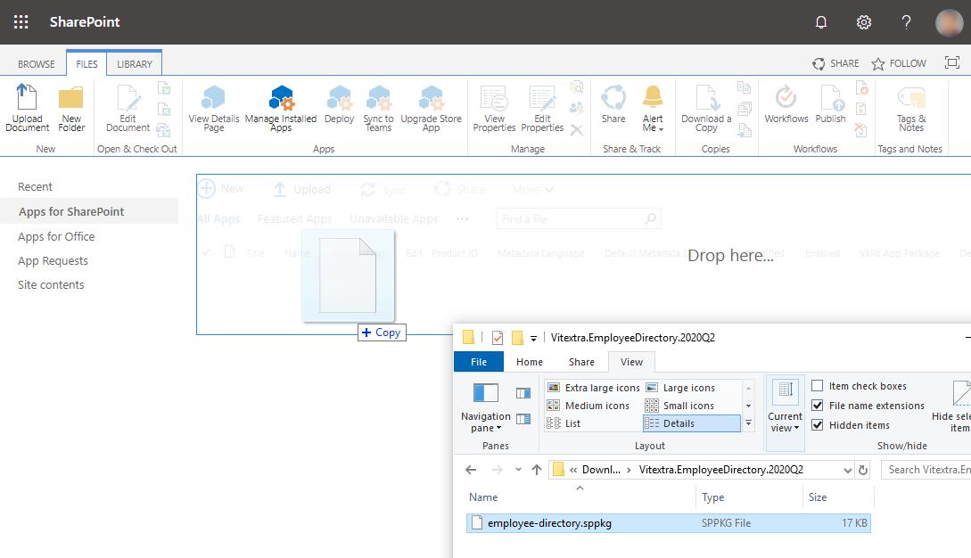 Uploading .sppkg file to SharePoint Online