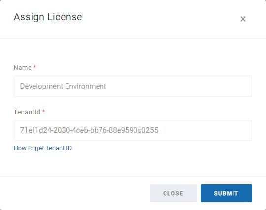 Assign License Dialog