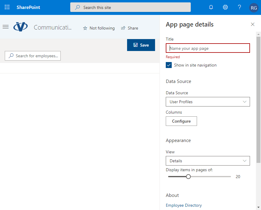 SharePoint App Page. Edit Mode