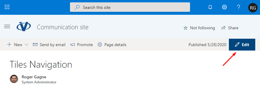 Edit SharePoint Page