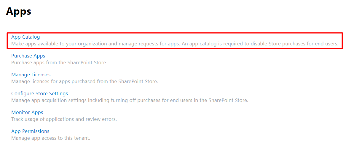 SharePoint Tenant Apps