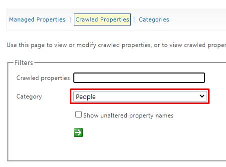 SharePoint Crawled Properties