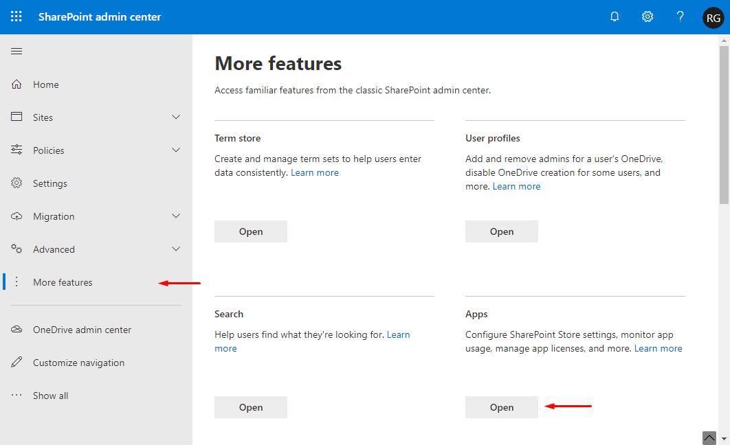 Open SharePoint App Catalog