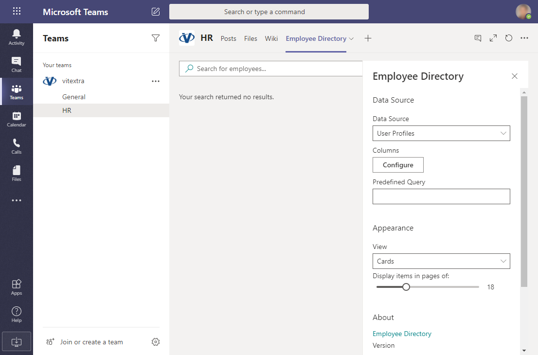 Configure Employee Directory