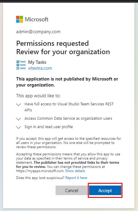 Accept Permission Request