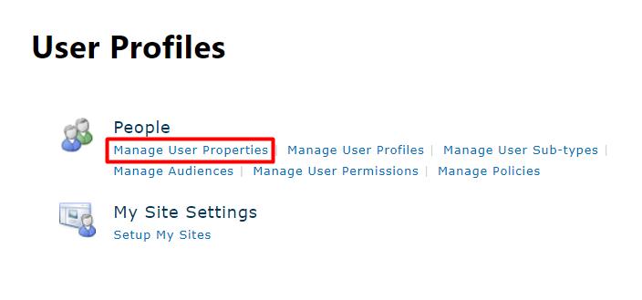 Open List of User Properties