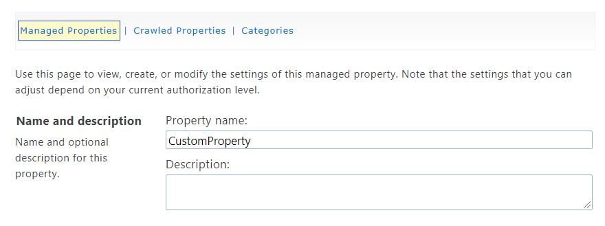 Configure the User Profile Property