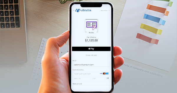 Buy Vitextra product with Apple Pay