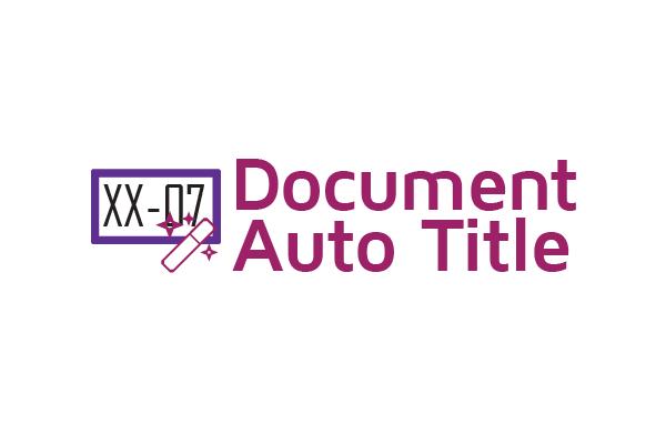 Document Auto Title