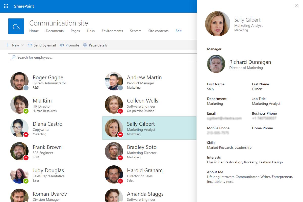 Employee Profile Details Pane