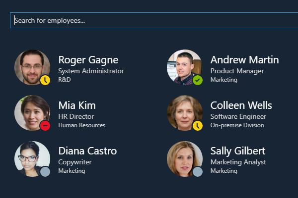 Employee Directory Web Part