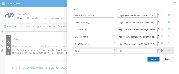 Vitextra RSS News for SharePoint
