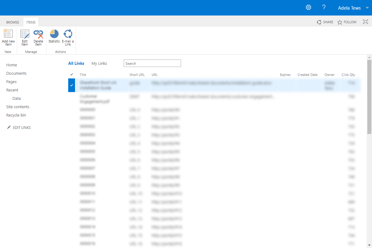 Manage all Short Urls in a single place (SharePoint 2019)