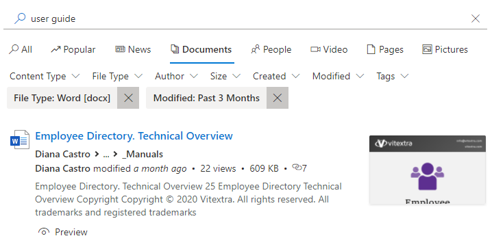 Smart Search web parts for SharePoint Online