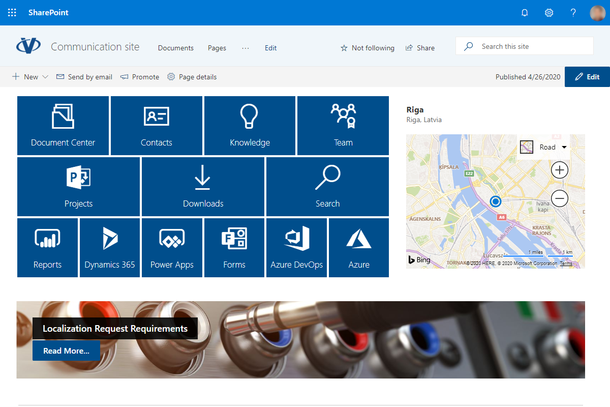 Vitextra Smart Tiles for SharePoint Online